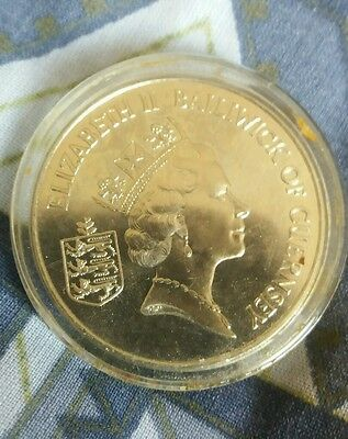 1994 Guernsey £2 -Two Pounds Crown Coin 50th Anniversary Of D-Day