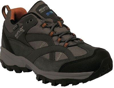 Regatta Mens Alderson Waterproof Walking Trail Shoe Granite Grey Rmf471