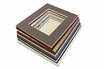 """8x10"""" Picture/ Photo Bevel Edge Mount with A5 Aperture - Lots of Colours"""