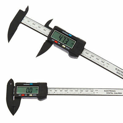 "6"" 150mm LCD Digital Display Electronic Micrometer Vernier Caliper Gauge Measurm"