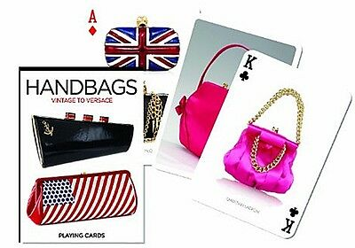 Handbags from Vintage to Versace set of 52 playing cards + jokers (gib)