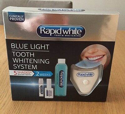 Rapid White Blue Light Tooth Whitening System-Whiter Teeth By 5 Shades in 2weeks