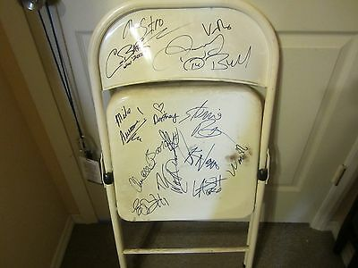 14 ECW Superstar signed FOLDING CHAIR Booker T, Daffney, Taz, Mike Awesome & Mor
