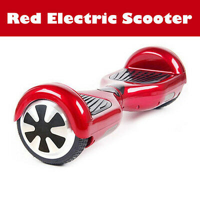 Hover Self Balancing Electric E-Scooter Balance Board LED Light Skate Board RED