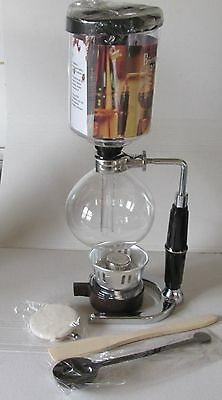 Beng  Siphon Coffee Maker New 5 Cup Tca-5 Spirit Version Cona Drainer Compatable