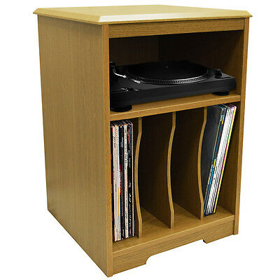 AUDIO - Turntable / LP / Vinyl Storage Side End Table - Oak 3382OC