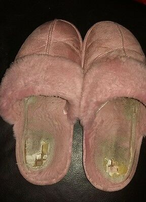 Trashed slippers, pink, size 7/8