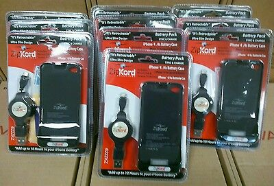 lot of 10 Zipkord battery pack sync&Charge Case- iPhone 4/4s USB&screen protect
