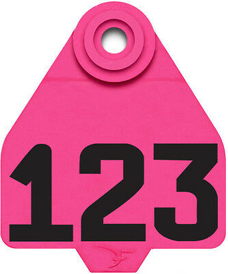 1 - 25* Pink DuFlex Numbered Medium Cattle ID Ear Tags