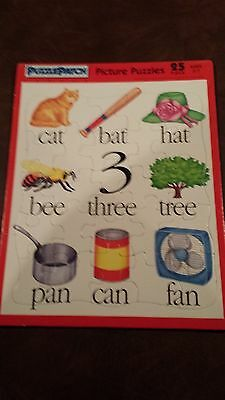 THREE (3) Vintage Puzzles by Puzzle Patch, 1993, 25 piece, Ages 3-7