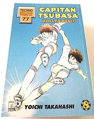 Capitan Tsubasa N. 8 Holly E Benji Manga Star Comics Techno 77 Prima Edizione!!