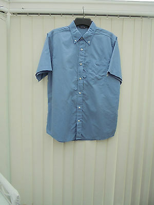 Rohan 'Worldview' Mens Size M Oxford Blue Short Sleeve Hiking/Walking Shirt