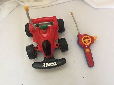 USED/TESTED Vintage 1990 Tomy Little R/C Buggy Car w/Remote Control EUC