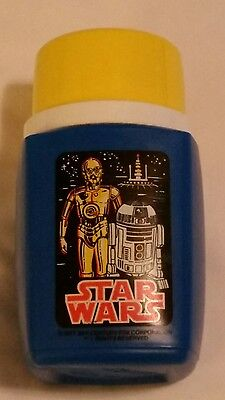Vintage 1977 Star Wars King Seeley Replacement Lunch Box Thermos C-3PO R2-D2