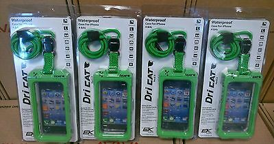 lot of 4 Dri Cat Green Waterproof Cell Phone Case for Apple iPhone 4/4S
