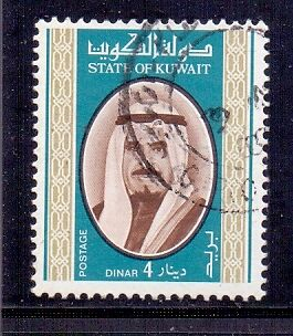 Kuwait. 4d green blue and brown. Used Shaikh Jabir stamp. 1978. SG 806