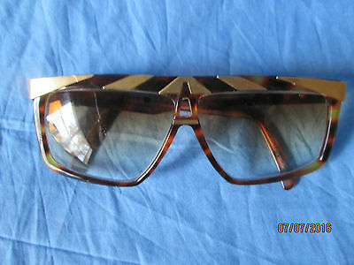 Vintage 80's ALPINA Gold plated G-81 Sunglasses