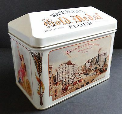 1990s WASHBURN CROSBY Co.GOLD MEDAL FLOUR Nostalgic Ads RECIPE TIN w All Cards