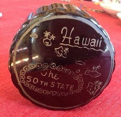 Vintage Mid Century Hawaii The 50th State Coasters & Container Tiki Bar Ware