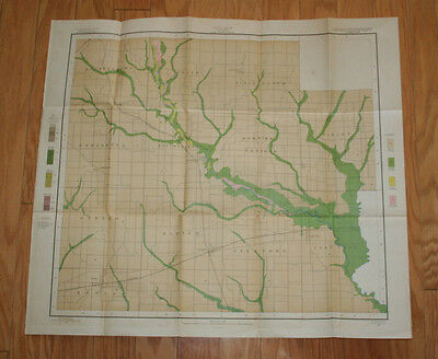 Vintage Soil Map IL Clay County Sheet 1902 Field Operations Bureau of Soils