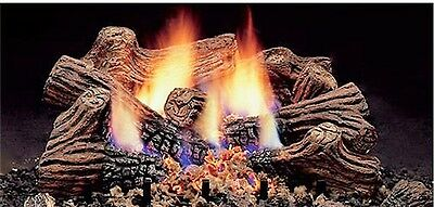 """Monessen 18"""" Charred Timber Natural Gas Vent Free Gas Log Set Remote Capable"""
