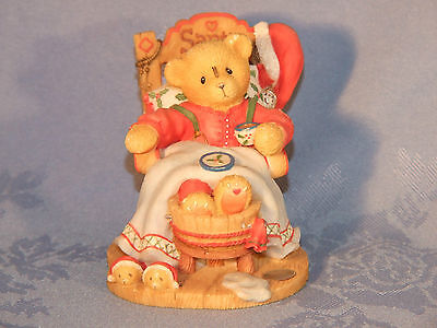 "Cherished Teddies. Santa. ""a Little Holiday R & R"". A Special 1998 Xmas Figurine"