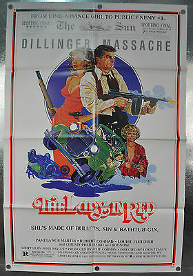 The Lady In Red Original One Sheet Movie Poster 1979 27 x 41