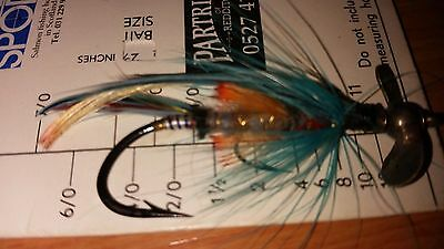 A vintage Hardy 5/0+  Aaro salmon fly pattern is ?Red Drummond variant? c.1911