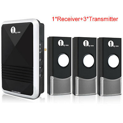 1byone Easy Chime UK Plug-in Wireless Doorbell Door Chime With Three Transmitter