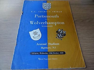 1949 Charity Shield  -  Portsmouth  v  Wolverhampton Wanderers