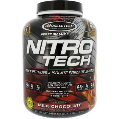 MUSCLETECH NITRO TECH SERIES PROTEIN WHEY Milk Chocolate 1.8KG NITROTECH