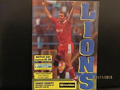 MILLWALL v Derby County 1991/92 MATCHDAY PROGRAMME