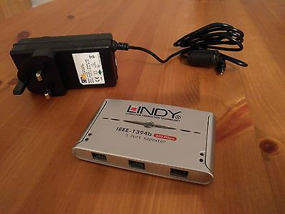 Lindy 3 Port FireWire 800 (FW800) 1394b Repeater 800Mbps - Perfect Condition