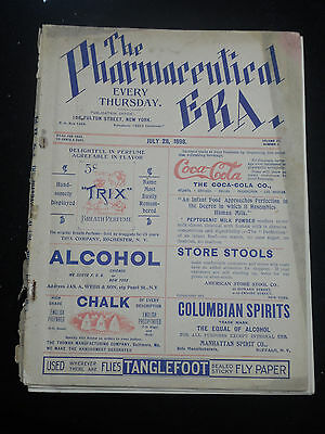 1898 Vintage Pharmacy trade journal Cocaine Advertising Coca Cola Addiction Era
