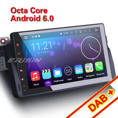 "Octa-Core 9""Car GPS Sat Nav SD DAB+Android 6.0 BMW E46 320 318 M3 Rover 75 MG ZT"