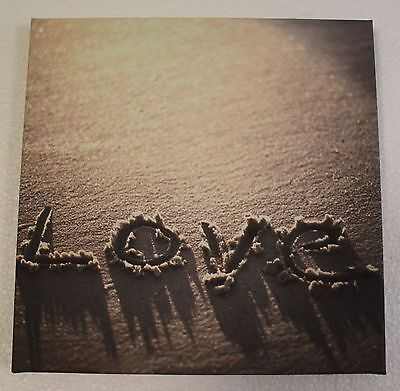 Beach Sand Love Canvas Wall Art Picture - NEW