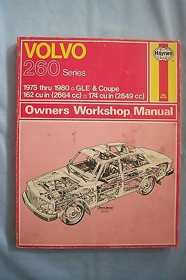 HAYNES Volvo 260 Series Owners Workshop Manual 1975 to 1980 GLE & Coupe *EUC*