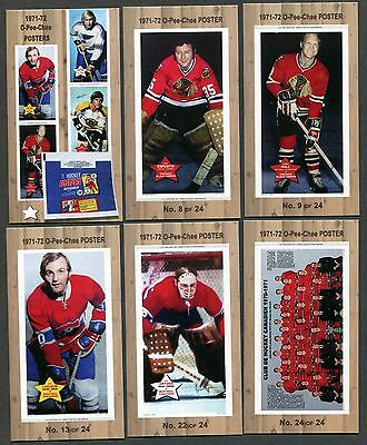 1971-72 O-Pee-Chee Posters complete set of 25 hockey cards ( Tallboy size ) ORR