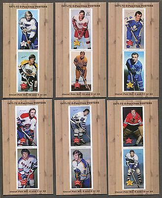 1971-72 O-Pee-Chee Posters complete set of 12 hockey cards ( Tallboy size ) ORR