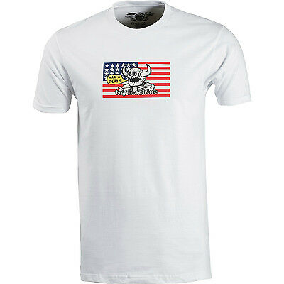 """New with tags TOY MACHINE Skateboards """"War Equals Death"""" T-Shirt (White) MEDIUM"""