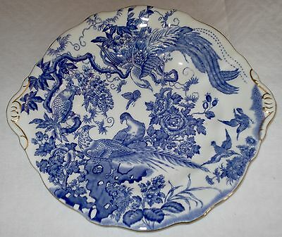 Gorgeous Royal Crown Derby Blue And White Bone China Cake Plate