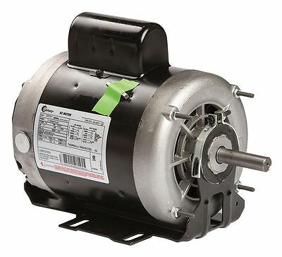 Century 1 HP Belt Drive Motor, Capacitor-Start, 1725 Nameplate RPM, 115/208-230