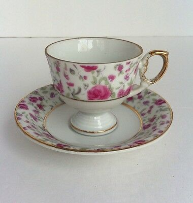 Vintage Napcoware Footed Demitasse Cup And Saucer