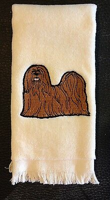 Lhasa Apso, Towel, Embroidered, Custom, Personalized, Dog