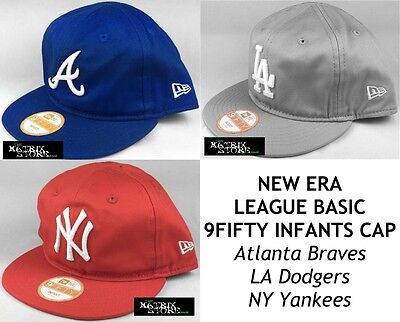 NEW ERA LEAGUE BASIC 9FIFTY ADJUSTABLE INFANTS CAP - Braves/Dodgers/Yankees