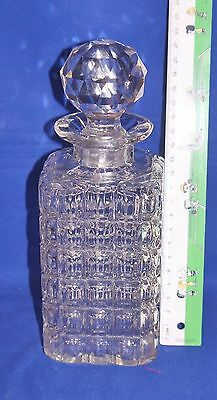 Small Vintage Square Whisky/Spirit Decanter 8.5 inches Tall