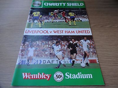 1980 Charity Shield - Liverpool  v  West Ham United