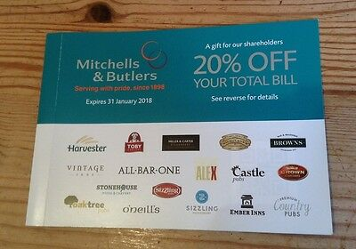 M&B 20% Discount Voucher - 20% Off inc Drinks For Up To 10 People