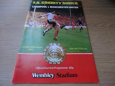 1983 Charity Shield - Liverpool  v  Manchester United