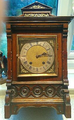 Antique LENZKIRCH Carved rosewood Bracket Clock : 1886 in lovely condition